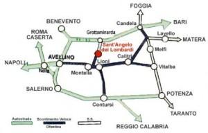 per arrivare a Sant'Angelo dei Lombardi